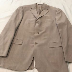 Hugo Boss Light Gray pinstriped suit
